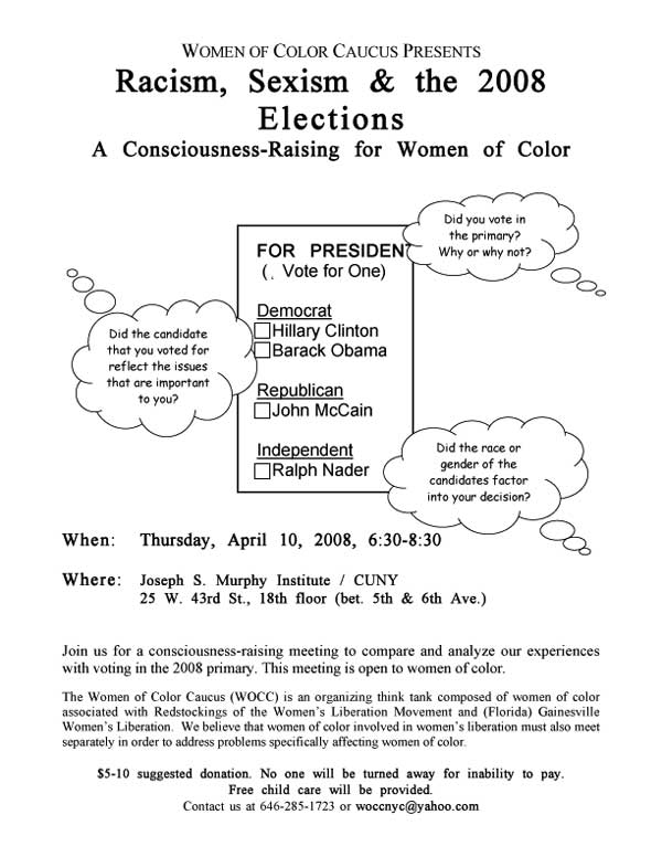 WOCC 2008 elections flyer